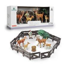 GizmoVine Farm House Model Action Figure deer Animal series Staffer Feeder Boy Farm Animal Set Figurines Life likeToy Kids Gift animal farm