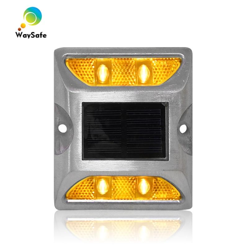 Promotion Dual Sides Yellow Flashing LED Solar Road Stud 3M Reflector Cast Aluminum Solar Marker