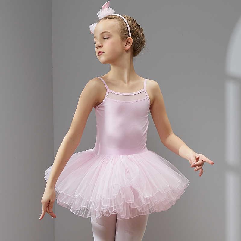 Ba Lê Đầm Múa May Váy Tutu Cho Bé Gái Trẻ Em Chất Lượng Cao Tay Ngắn Voan Vũ Khi Mặc