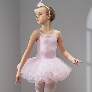 Image 3 - Vestido de Ballet y danza para niñas y niños, tutú de tul de manga corta de alta calidad