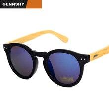 Retro Bamboo Sunglasses Men Women Vintage Handmade Bamboo Sunglasses Fashion Brand Design Fishing Wayfaring Blue Mirror Glasses