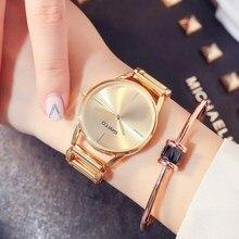 2018 Топ марка розовое золото Для женщин часы браслет Сталь женский часы для девочек женские кварцевые часы наручные Спорт relogio feminino