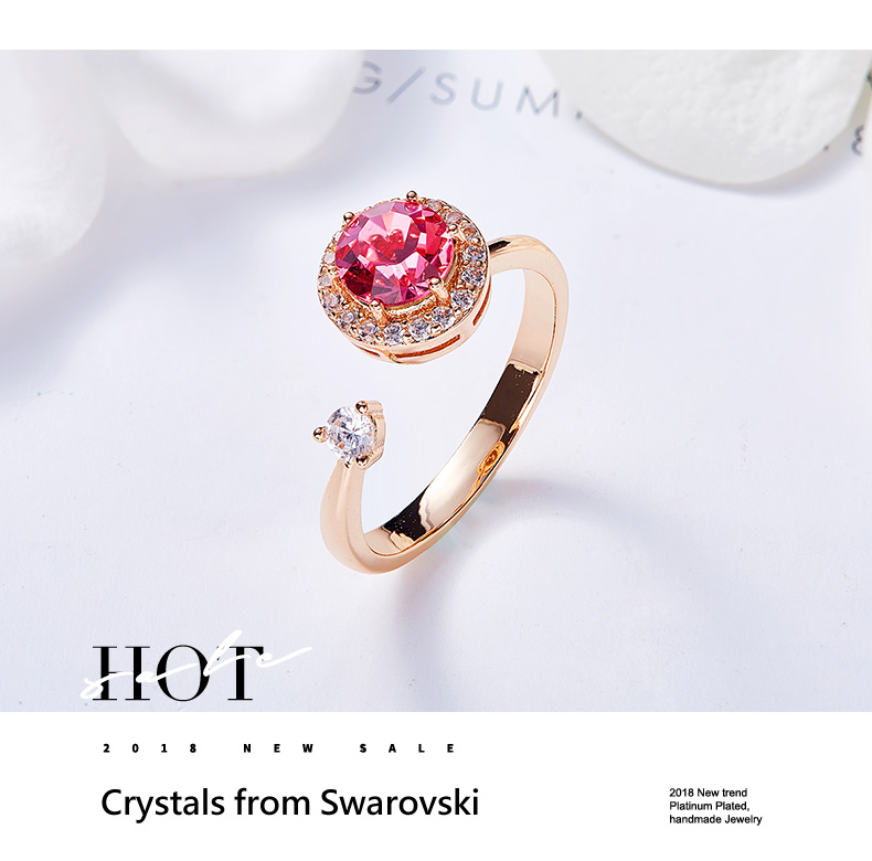 Pink Crystals Rose Gold Ring (9)