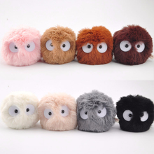 8cm My Neighbor Totoro Wholesale Plush Mini Soot Sprite Spirited Away Black Dust Elf Doll Toys For Kid Birthday Gift