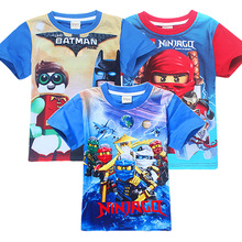 2017 Summer Children's Clothing Baby Boys Girls T-shirt  batman Ninja Ninjago print Cartoon Trolls T-shirt Kids Tops Tees T Shir