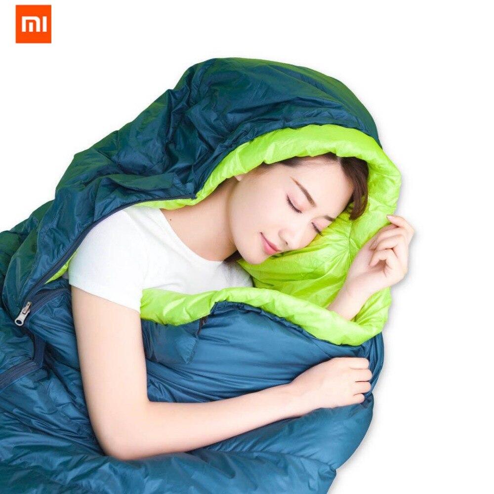 Оригинальный ультра легкий спальный мешок xiaomi mijia zaofeng, 300 г, 90% чистого белого утиного пуха, очень легко носить с сумкой - 2
