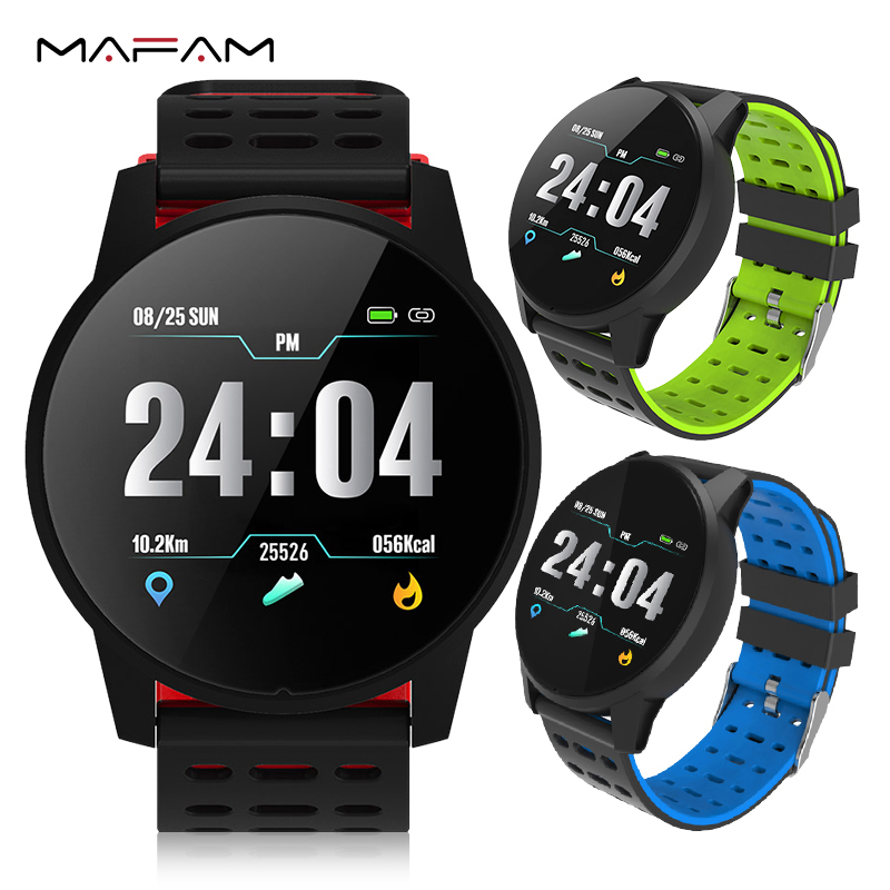 MAFAM Smart Watch Men Women Heart Rate Blood Pressure Oxygen Monitor Fitness Tracker Alarm Reminder Smartwatch Clock Sport Watch