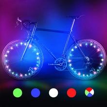2M 20 LED Bike Bicycle lights Mountain Bike Wheel String Light Cycling Spoke Wheel Lamp Bike Accessories Luces Led Bicicleta