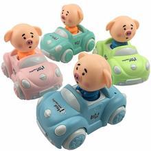 1pcs Random Color Toy Car Children Cute Cartoon Inertia 1:32 Mini Funny Pig Gifts for Kids