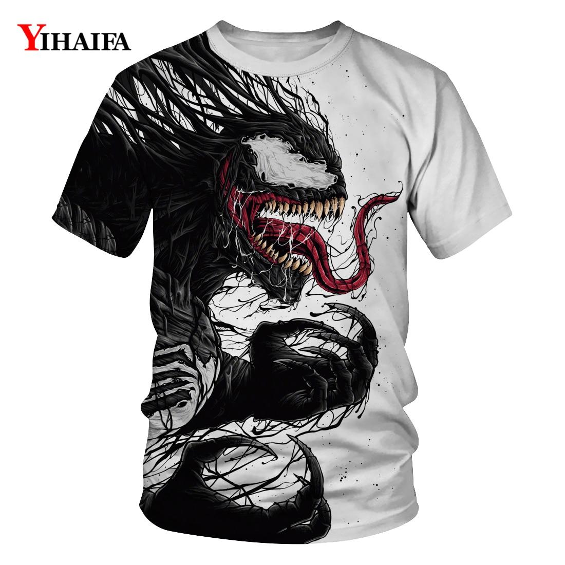 2019 T Shirt Stylish Men Newest Venom Marvel T-shirt 3D Printed T-shirts Women Casual Fitness Tees Tops