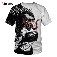 2019 T Shirt Stylish Men Newest Venom Marvel T-shirt 3D Printed T-shirts Women Casual Fitness Tees Tops