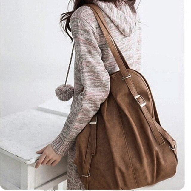 Lady Korea Style PU Leather Handbag Shoulder Bag Womens' Pouch Tote Messenger Bagpacks For Women Teenager Girl 3 Colors 40