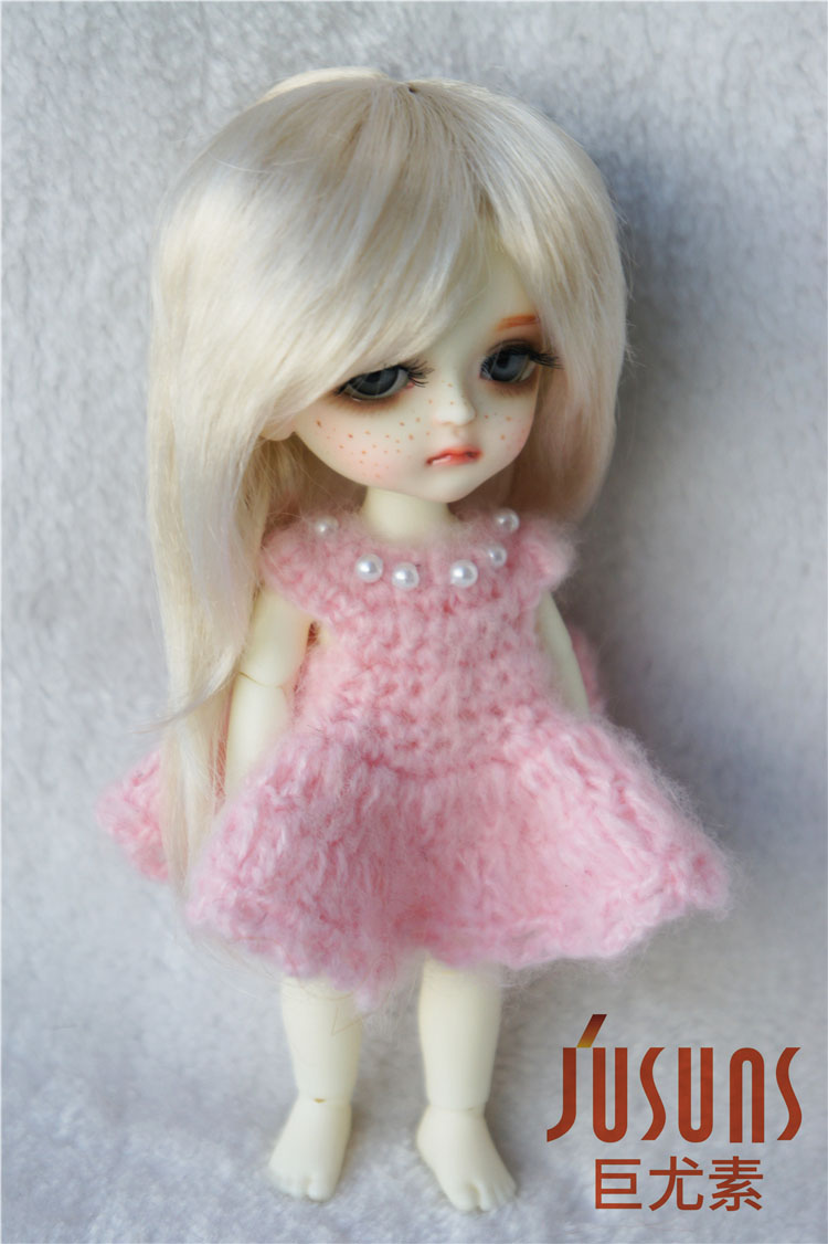 JD176 1/8 sintetis makiar anak patung wig panjang updo pigtail rambut - Anak patung dan aksesori - Foto 1