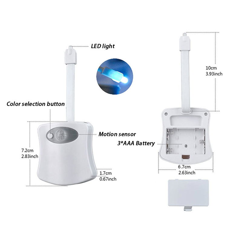 Motion Sensing LED Toilet Night