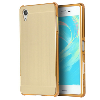 For Sony Xperia X Case Brushed Hard PC Back Cover +Aluminum Metal Frame Bumper Funda For Sony X Dual F5121 F5122 Phone Cases