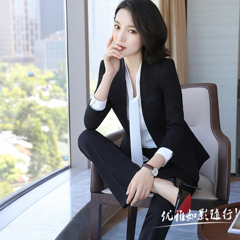 New Women Work Wear Women's  Business Dress Knee Long-Sleeved Coat+Dress+Shirt 3 Pcs / Set  Drop Shipping