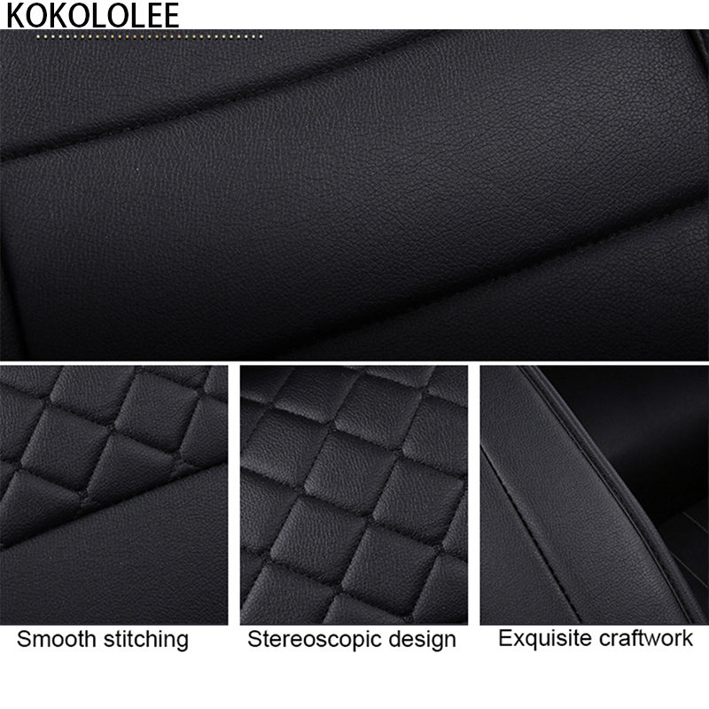 [KOKOLOLEE] pu leather Car seat Covers for KIA All Models Rio K2/3/4 Cerato Sportage cars cushion auto accessories car styling - 2