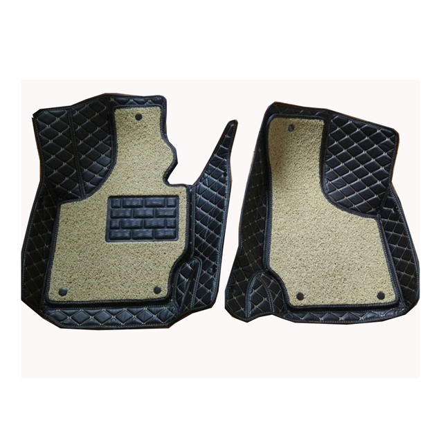 Carnong car mat floor Leather for AUDI TT 2 front seat from 2008 2014 one or two layer for your choice