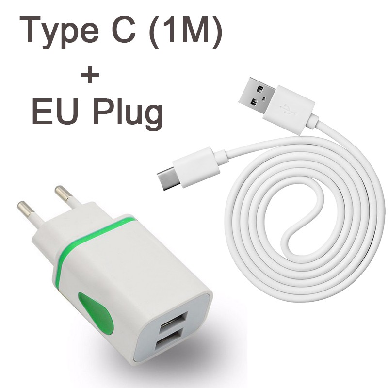 Type C Cable For LeTV LeEco Le S3 X626 2 X527 X520 Max 2 X829 X820 USB C Cables Case EU Plug Charger Charging(China)