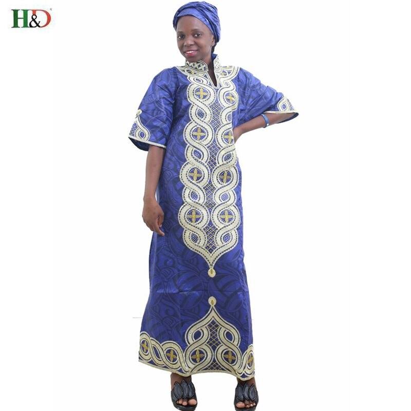 Artı Boyutu kadınlar için afrika giyim afrika Baskı Pamuk uzun - Ulusal Kıyafetler - Fotoğraf 1