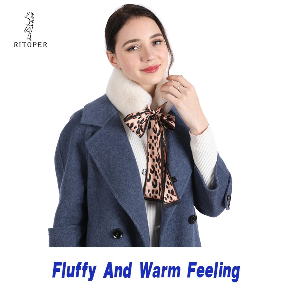 RITOPER Fur Scarf 2019 New Leopard Print Scar Women Scarf Lady Graceful Silk Scarf Female Neckerchief Scarves amp Wraps Dropship in Women 39 s Scarves from Apparel Accessories