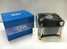 For AVC 1366 2011 Pure copper core CPU fan ultra-quiet cpu radiator 4-pin thermostat for X58 X79