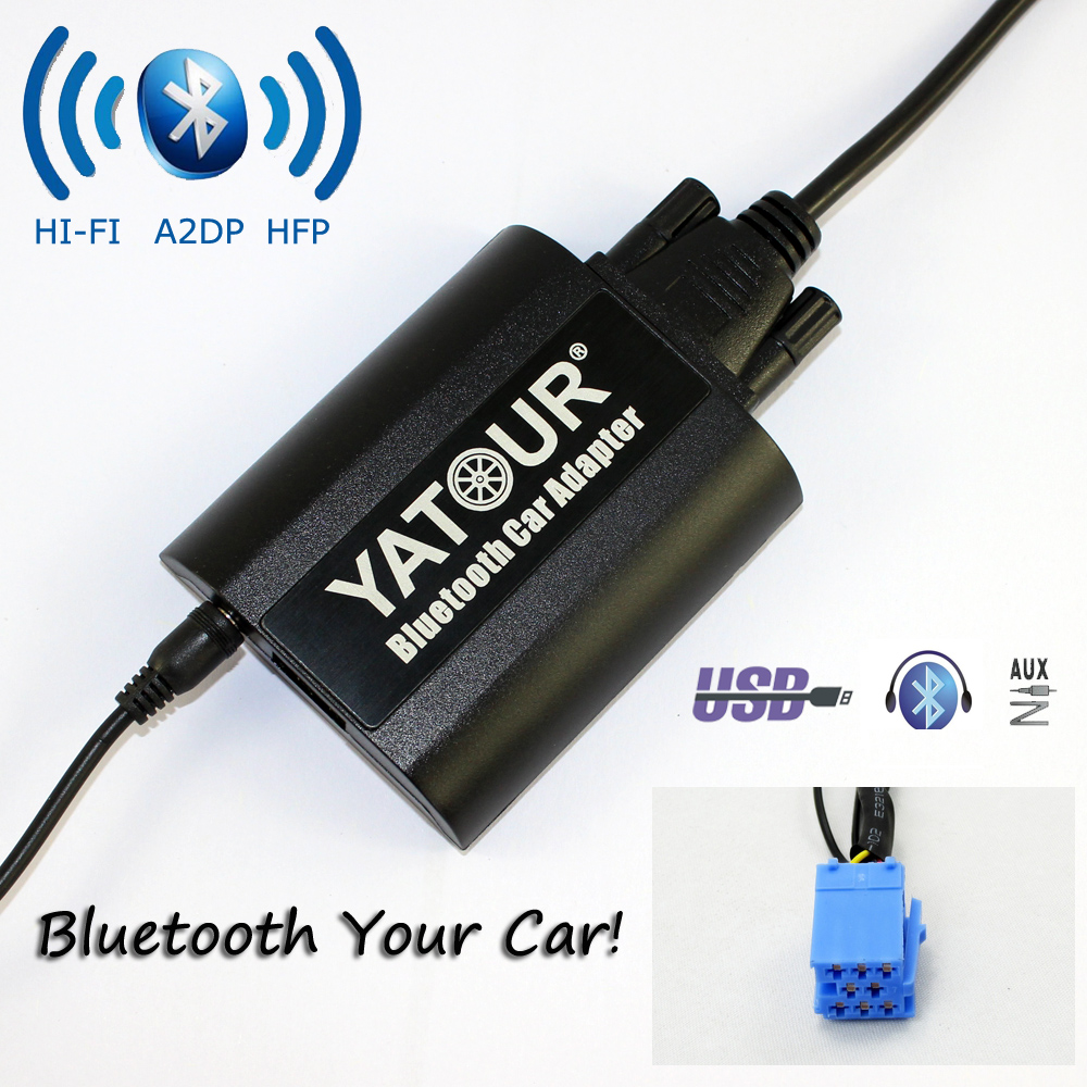 Yatour Bluetooth Car Adapter For Renault Siemens VDO Dayton 8-pin head uni YT-BTA AUX IN HI-FI A2DP USB Charging port yatour for 12pin vw audi skoda seat quadlock yt m06 car usb mp3 sd aux adapter digital cd changer interface