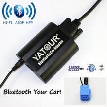 Yatour Bluetooth Adaptateur De Voiture Pour Renault Siemens VDO Dayton 8-pin tête uni YT-BTA AUX IN SALUT-FI A2DP USB port de Charge