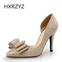 Летние дамы сексуальные супер высокие каблуки свадебные туфли невесты золотые пятки для женщин пятки с луком женщина насосы серые каблуки для женщин