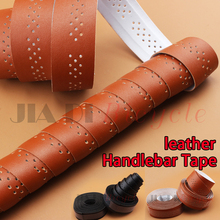 Bicycle Handlebar Tape PU Leather Straps Sweat Absorption Hollow Breathable Winding Belt 1.9M Accessories