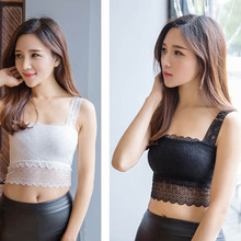 Sexy Women Comfortable Lace Bralette Bra Bustier Crop Top Floral Padded Tank Tops Outdoor S