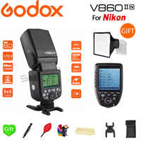 Godox V860IIN HSS GN60 TTL Flash 1/8000S 2.4G Speedlight Li-on Battery +Xpro-N Trigger for Nikon D7200 D7100 D7000 D5500 D5300