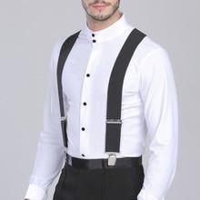 50 мм широкие эластичные регулируемые мужские подтяжки для брюк X форма с сильными металлическими зажимами Ceinture Homme Cinturones Hombre