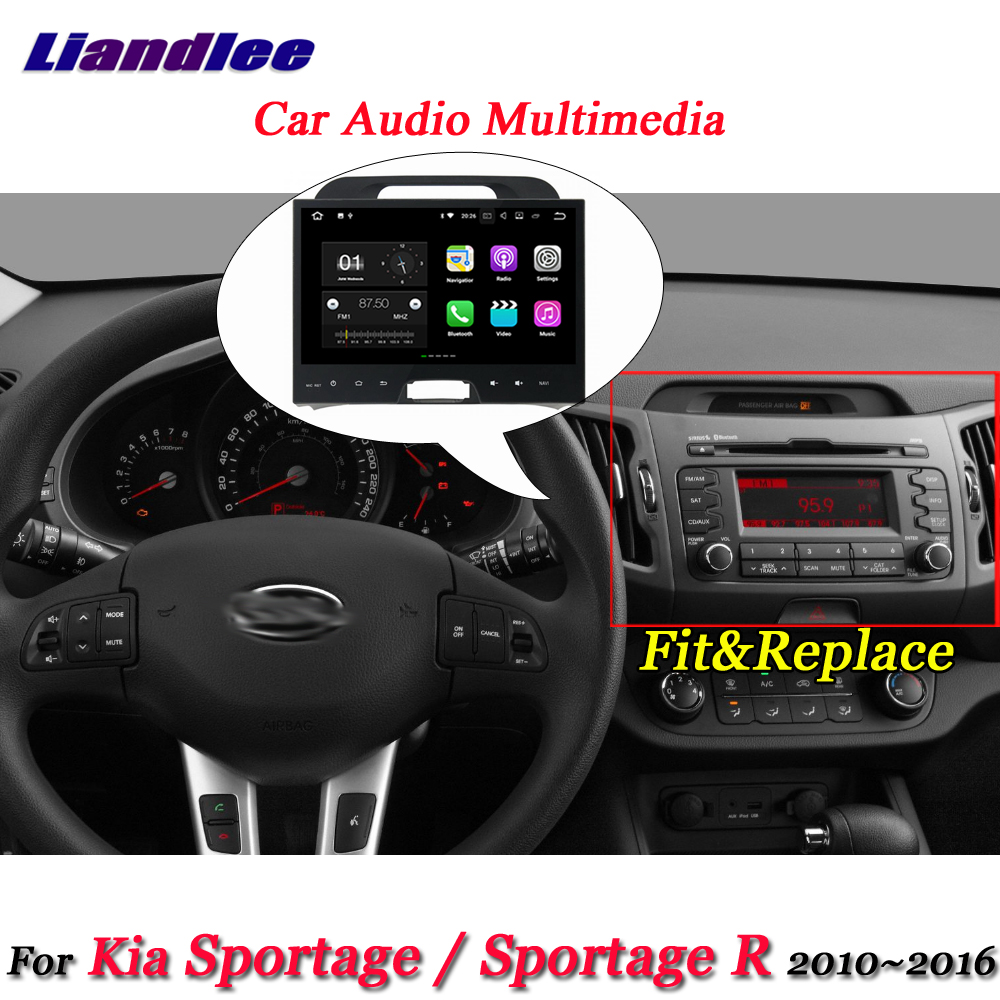 Liandlee Car Android System For Kia Sportage / Sportage R 2010~2016 Stereo Radio Video GPS Map Navi Navigation Multimedia No DVD автомобильный dvd плеер hotaudio 4 4 4 kia sportage 2010 dvd gps navi dhl ems