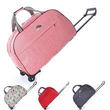 Hand Gepäck Trolley Reisetasche Wasserdichte Oxford Koffer Taschen Auf Rädern Unisex Rollgepäck Duffle Tasche