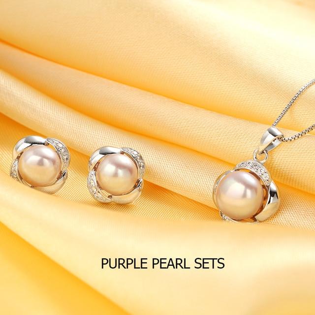 Sterling Silver Pearl Jewellery Set