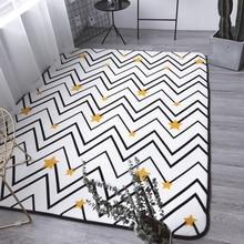 Estilo nórdico geométrica estrellas amarillas carpet, 190*195 cm salón carpet, rectangle colchoneta, lindo pastoral decoración estera