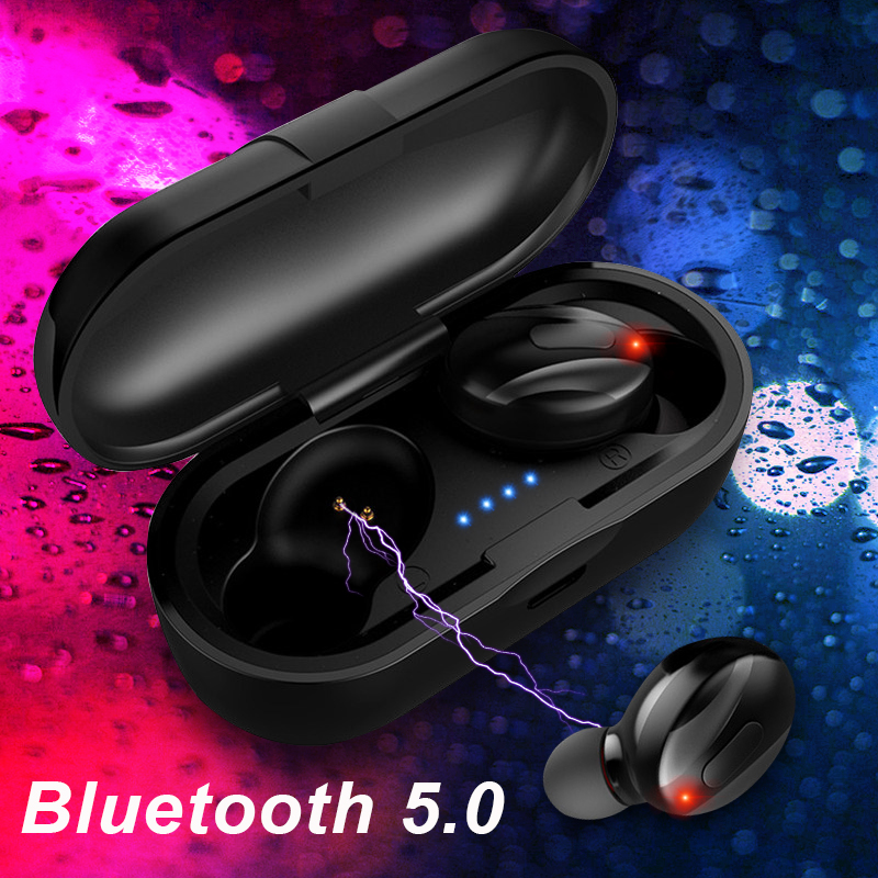 <font><b>TWS</b></font> Bluetooth 5.0 Earphone Stereo True Wireless Earbuds HIFI Sound Waterproof Sport Earphones Handsfree Gaming Headset with Mic image
