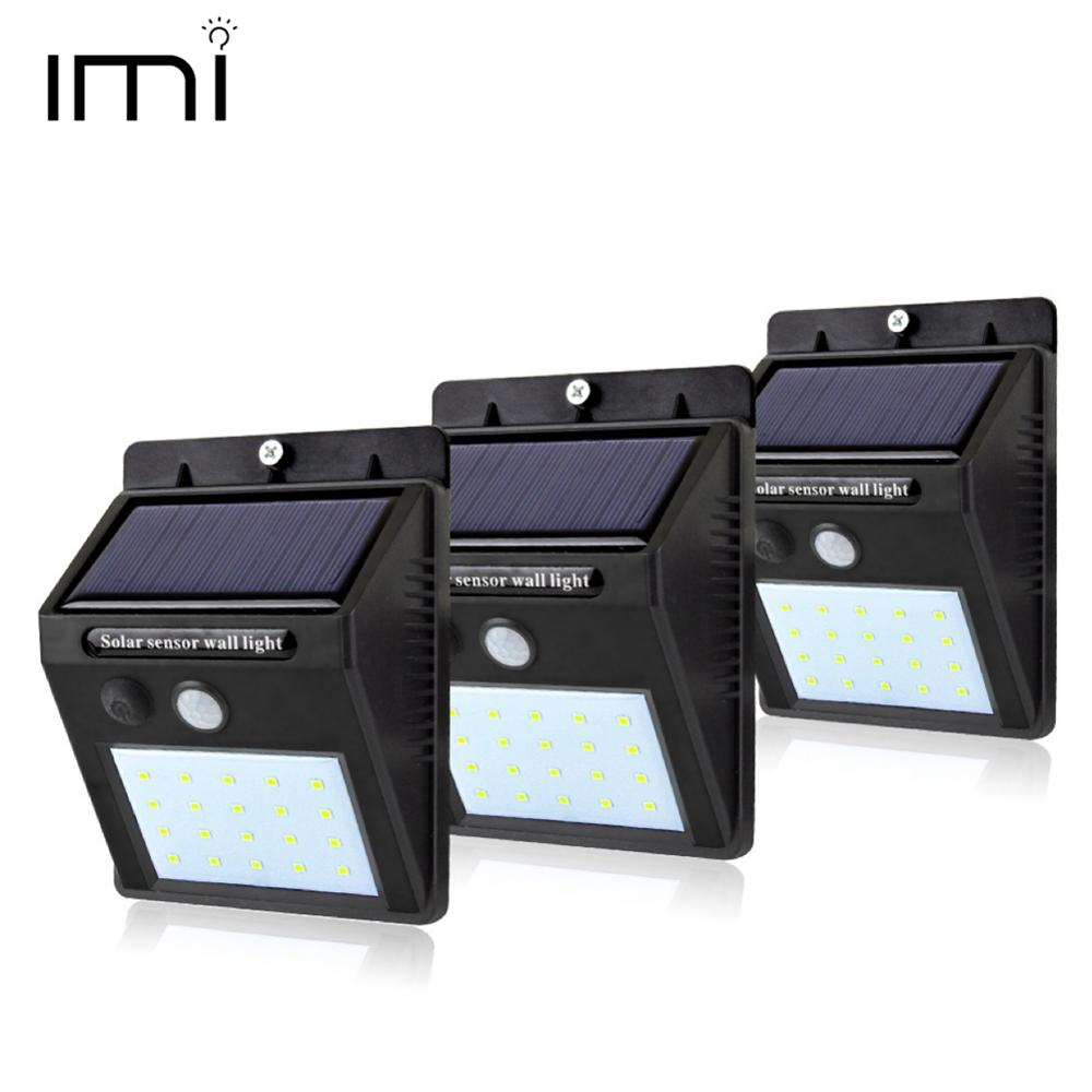 Solar Power Lamp Night Light Security 20 LED Waterproof PIR Motion Sensor Auto Path Street Wall Garden Fence Lighting Outdoor