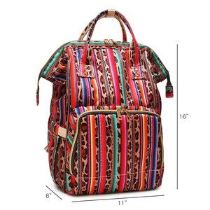 Image 2 - Рюкзак для мам с леопардовым принтом, дорожная сумка для подгузников с несколькими карманами, тканевая сумка для ухода за ребенком