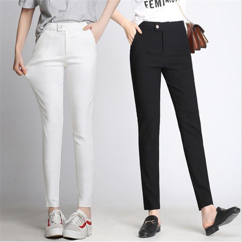 MLCRIYG 2018 Summer Elastic Ankle-lnegth thin pencil trousers
