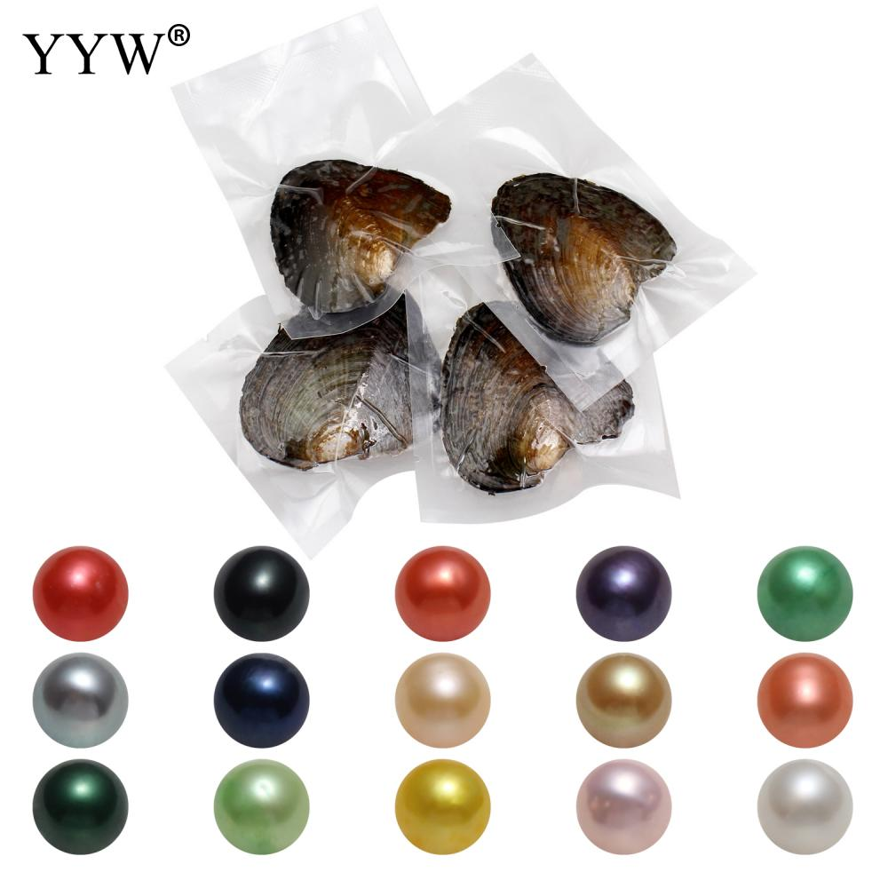 50 Pcs Akoya Cultured Sea Pearl Oyster Beads Jewelry Making Pearls Round 2019 Bulk Bead Clean