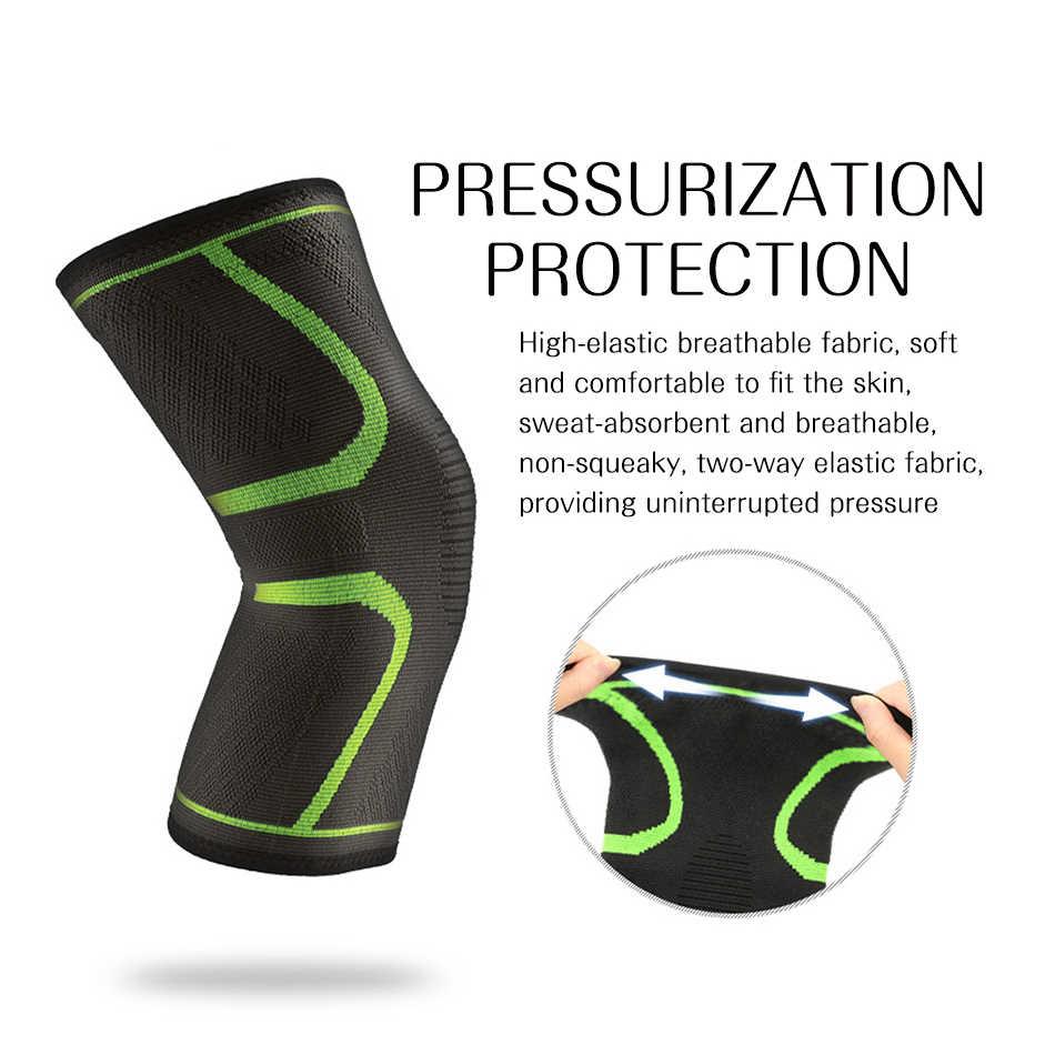 REXCHI 1 adet elastik diz pedleri naylon spor spor Kneepad koruyucu donanım Patella Brace destek koşu basketbol voleybol