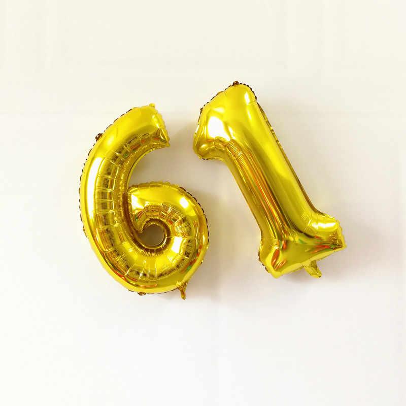 1 Pcs Digital Balon Emas Bola Mainan 16 Inci Bola Plastik Bola Warna-warni Lucu Anak Bayi Berenang Mainan Air Kolam Renang gelombang Bola