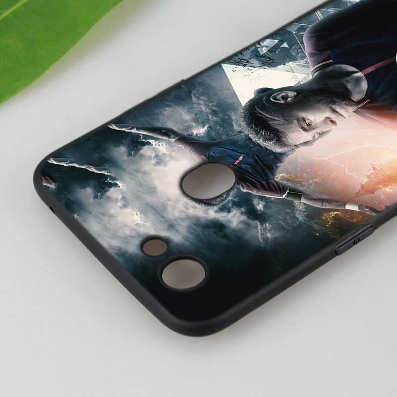 Silicone Phone Bag For OPPO F5 F7 F9 A5 A7 R9S R15 R17 Black Soft Silicone Phone Case Soccer Player Neymar Style in Fitted Cases from Cellphones Telecommunications