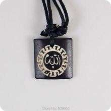 ALLAH Arap İslam Kuran yak kemik Oyma Kolye Kolye Muska Şanslı Hediye Tribal Totem moda takı