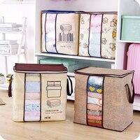 2017 New Non Woven Portable Clothes Storage Bag Organizer 45 5 51 29cm Folding Closet Organizer