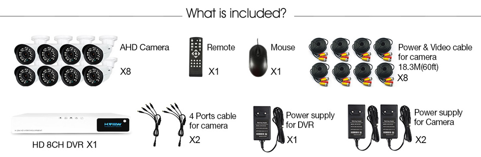 CCTV Security Camera System 8810X5AM (3)
