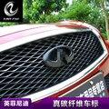 Углеродного волокна чистая логотип 3D наклейки Спереди и сзади логотип наклейки модификации личности для infiniti Q50 Q50L