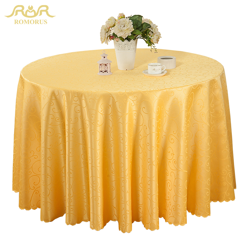 romorus new round table cloths solid color wedding tablecloth